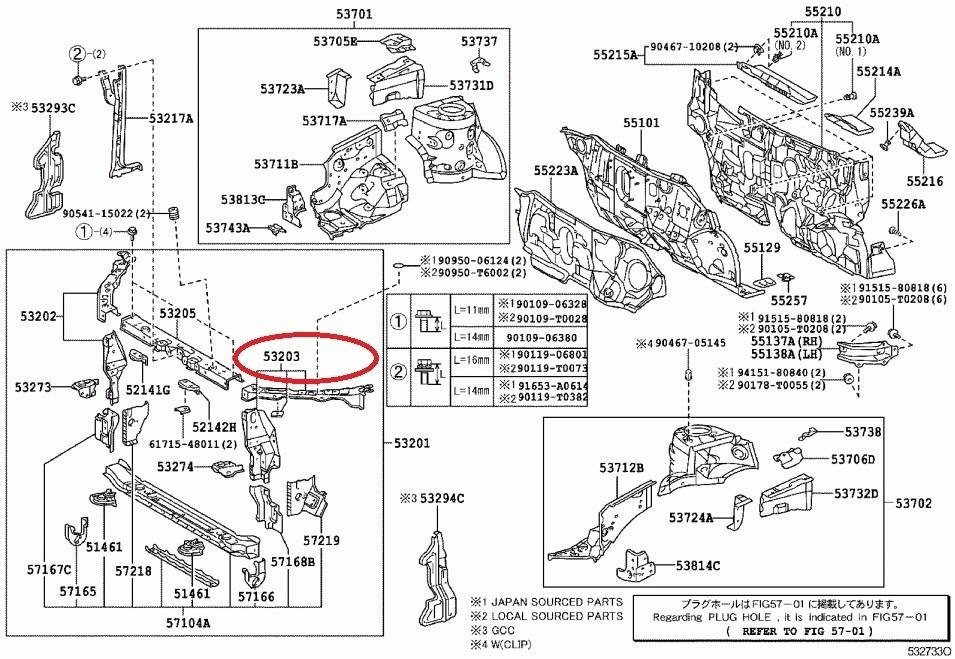 Genuine Brim LH NZE-170