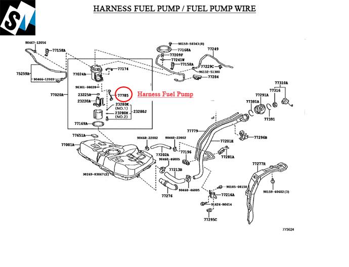 Fuel Pump Wire Corolla 2009
